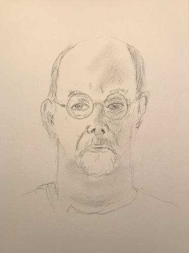Sketch: Pencil - Quarantine Portrait Series: Self Portrait, First Approximation