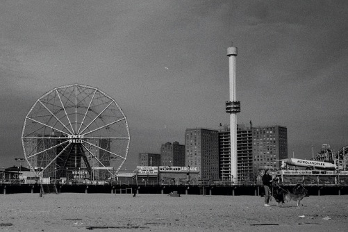 Photography: Vintage Photo: Wonder Wheel, Astroland, Coney Island NYC on a Cloudy Day 1990