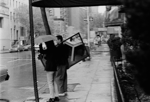 Photography: Vintage Photo: Looking for a Cab, Holding a Mirror, NYC 1991