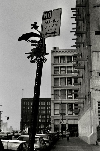 Photography: Vintage Photo: Sculpture on Parking Sign, NYC 1991