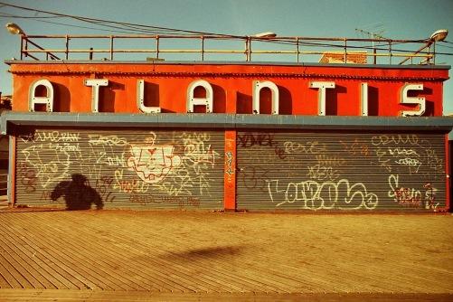 Photography: Vintage Photo: Coney Island, NYC Boardwalk, Winter 1991