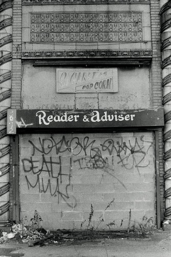 Photography: Vintage Photo: Graffitied, Bricked Up Reader & Adviser, Coney Island, NYC 1991