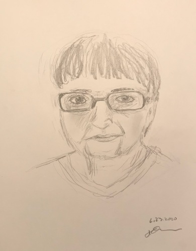 Pencil Sketch: Quarantine Portrait Series: Portrait from Photo