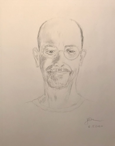 Pencil Sketch: Quarantine Portrait Series: Self Portrait - I Got a Haircut