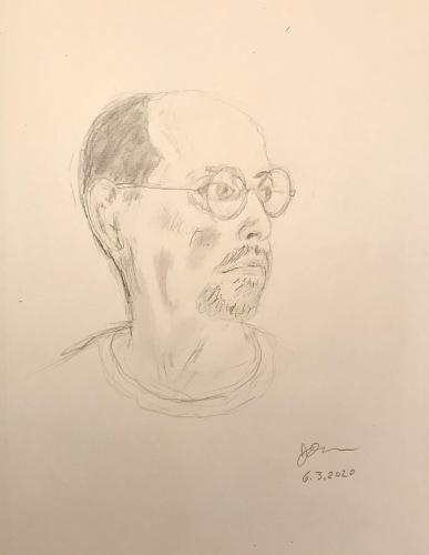 Pencil Sketch: Quarantine Portriat Series: Self Portriat - 3/4 Profile