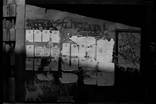 Photography: Vintage Photo: Torn Posters, NYC 1991