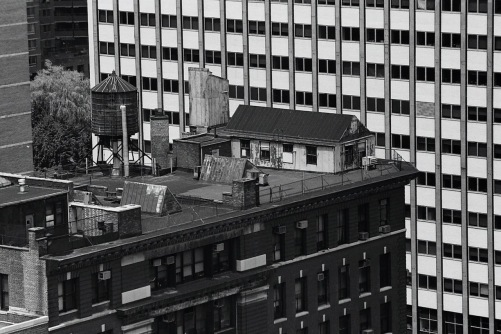 Photography: Vintage Photo: Home Away From Home, Roof Building on 1st Ave NYC 1988