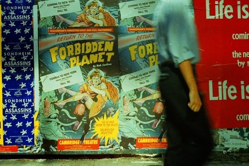 Photography: Vintage Photo: Life Is... Forbiddent Planet Posters, NYC 1991