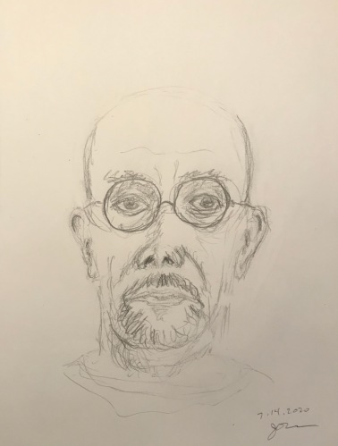 Pencil Sketch: Quarantine Portrait Series: Self Portrait From Memory