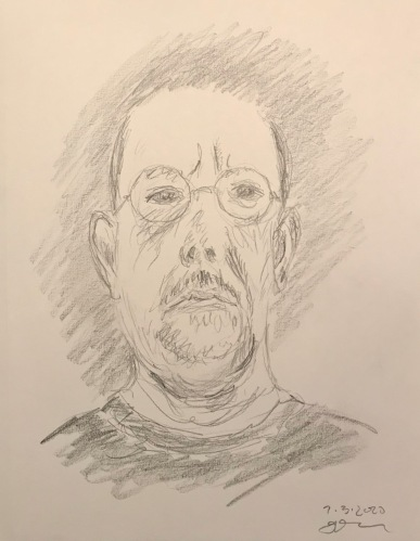 Pencil Sketch: Quarantine Portrait Series: Sketcherly Self Portrait