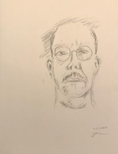 Pencil Sketch: Quarantine Portrait Sketch: Drawing Lesson, Self Portrait
