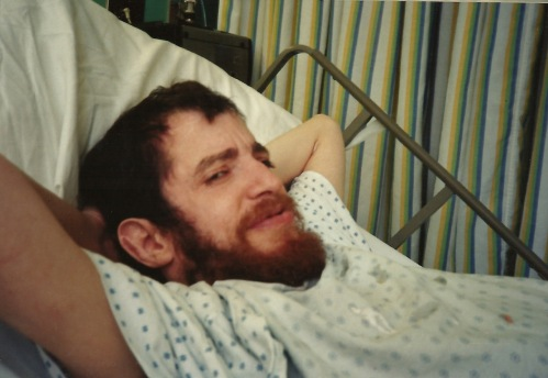 Photography: Reference Photo Mike Sketch Project: Mike in Hospital, Living it Up (date unknown)