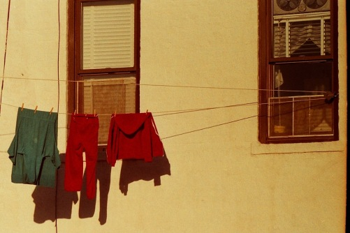Photography: Vintage Photo: Clothes on the Line, NYC May 1989