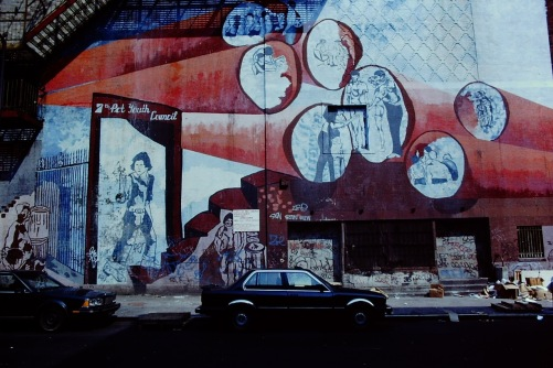 Photography: Vintage Photo: Mural in Chinatown, NYC, May 1989