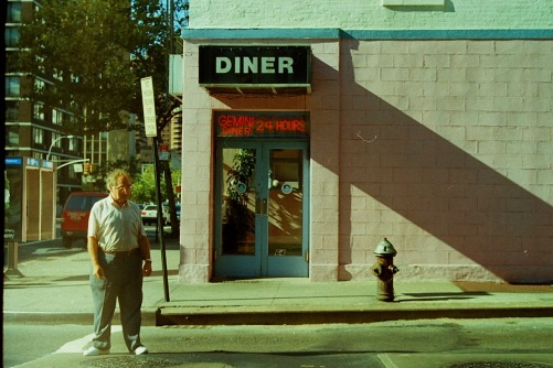 Photography: Vintage Photo: Gemini Diner, and Pedestrian, East Side, NYC September 1991