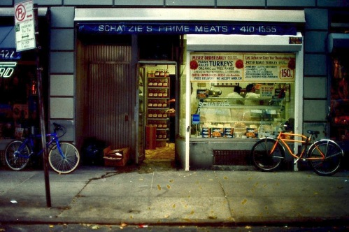 Photography: Vintage Photo: Schatzie's Prime Meats, Upper East Side, NYC, October 1991