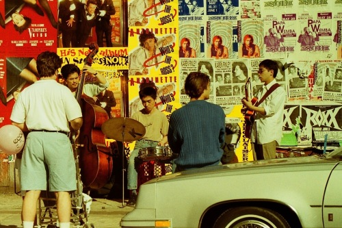 Photography: Vintage Photo: Jazz Band on the Sidewalk with Posters in the Background, NYC, May 1989
