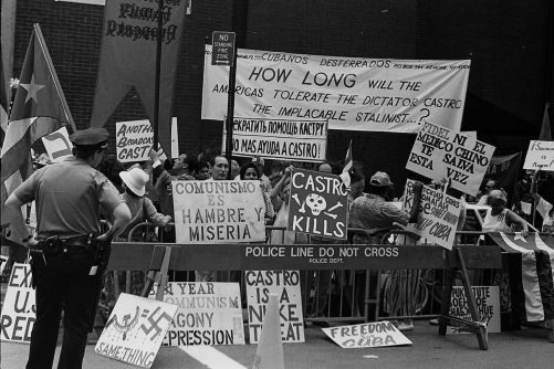 Photography: Vintage Photo: NYC Demonstration Outside Cuban Embassy, July 1991