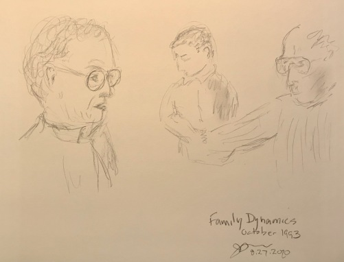 Pencil Sketch: Mike Sketch Series: Family Dynamics, October 1993