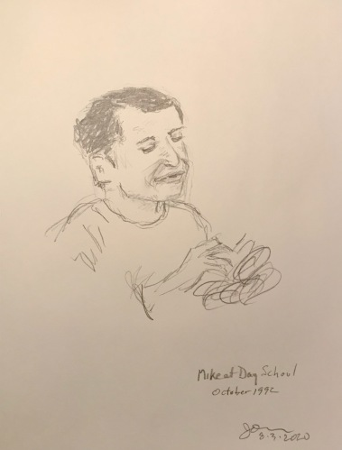 Pencil Sketch: Mike Sketch Series: Mike at Day School October 1992