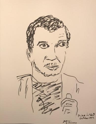 Mike Sketch Series: Mike Wearing Vest October 1993