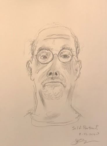 Pencil Sketch: Quarantine Portrait Series: The Self Portrait Returns