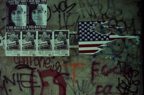 Photography: Vintage Photo: Graffiti and Posters, NYC, November 1991