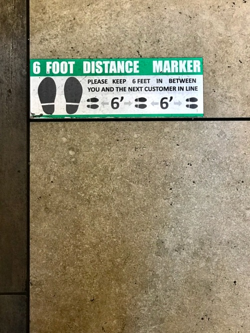 Photography: Social Distancing Series: 6 Foot Distance Marker