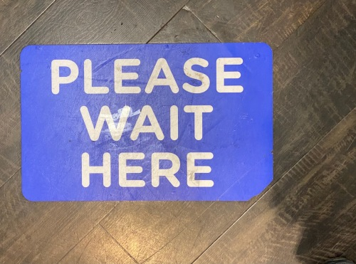 Photography: Social Distancing Series: Please Wait Here...