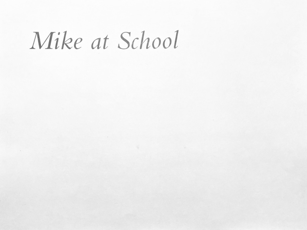 My Brother Michael: Next Section - Mike at School