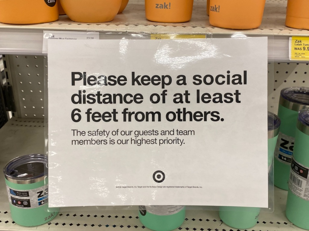 Photography: Social Distance Series: Shelf Signs - Keep a Social Distance