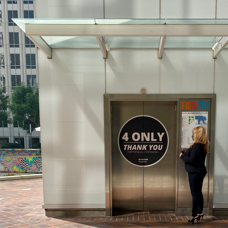 Social Distancing: Elevator Instructions, Big Print Edition
