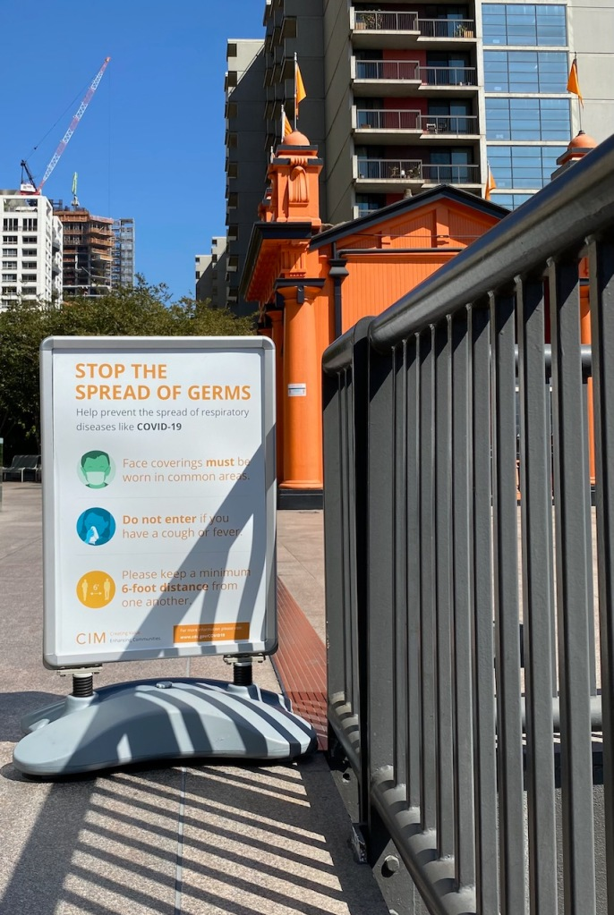 Photography: Social Distancing Series: Stop the Spread of Germs at Angel's Flight