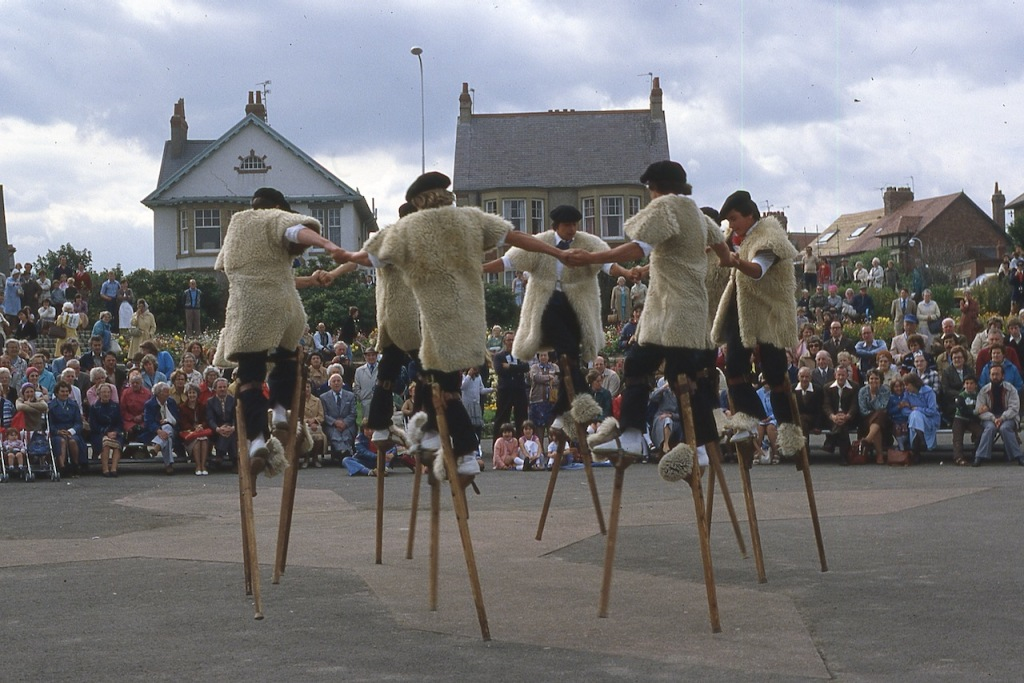 Photography: Archives - Basque Stilt Dancers, North of England August 1980