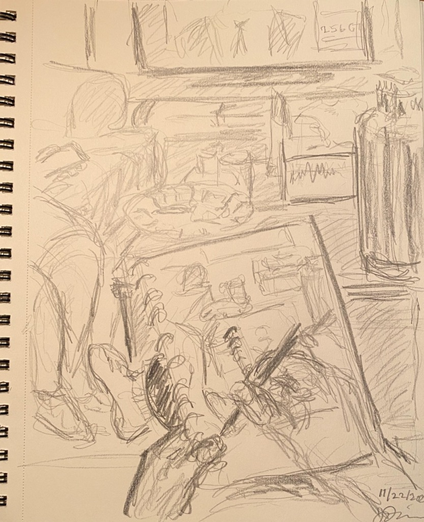 Pencil Sketch: Getting Back to Sketching - At Home