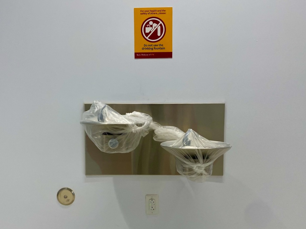 Social Distancing Series: For your safety - Do Not Use Drinking Fountain