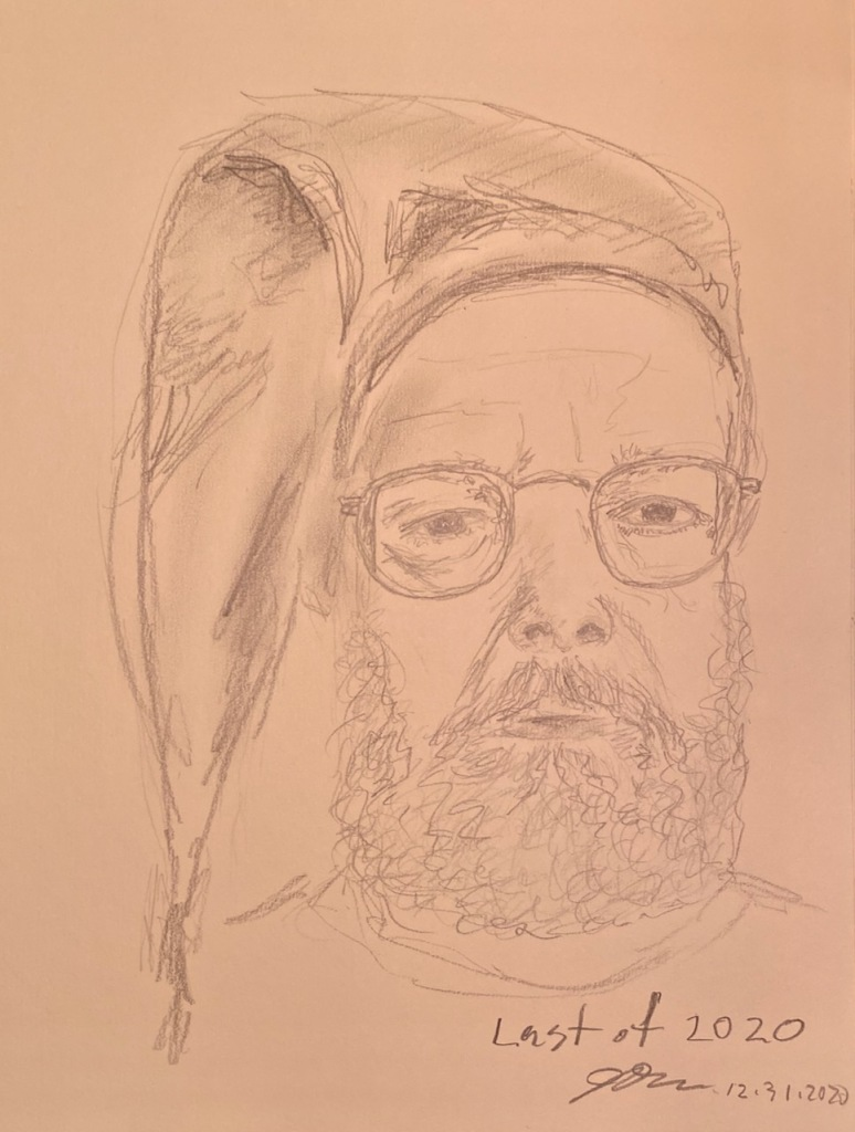Pencil Sketch: Self Portrait - Last of 2020