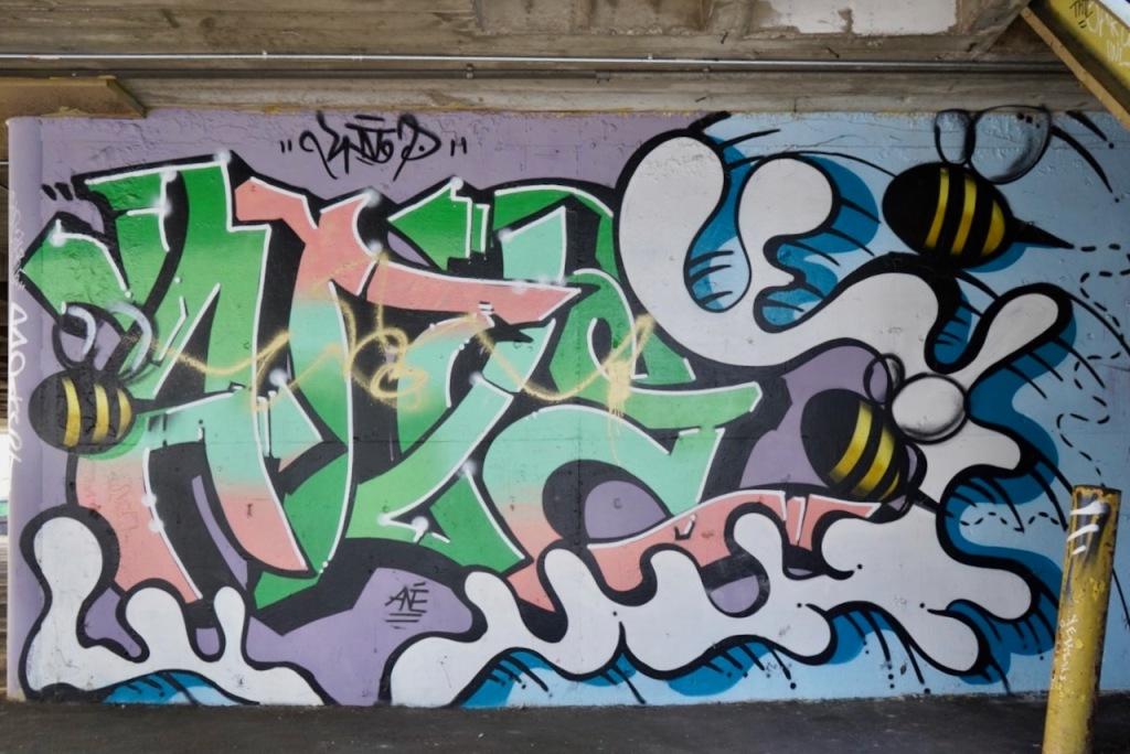Street Photography: LA Graffiti at Entrance to Parking Garage
