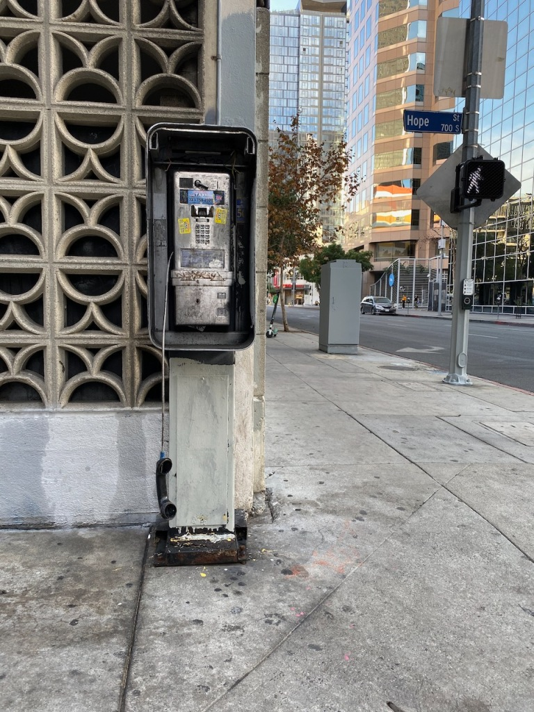 Street Photography: Phone Booth at the Corner of Hope