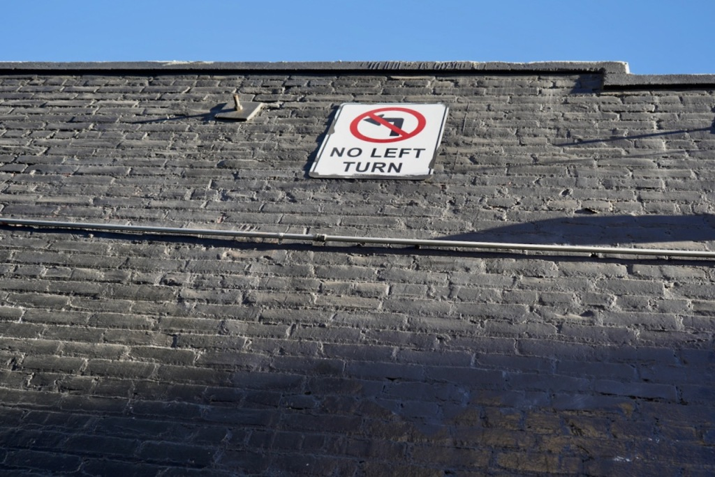 Street Photography: Sign Placement - No Left Turn