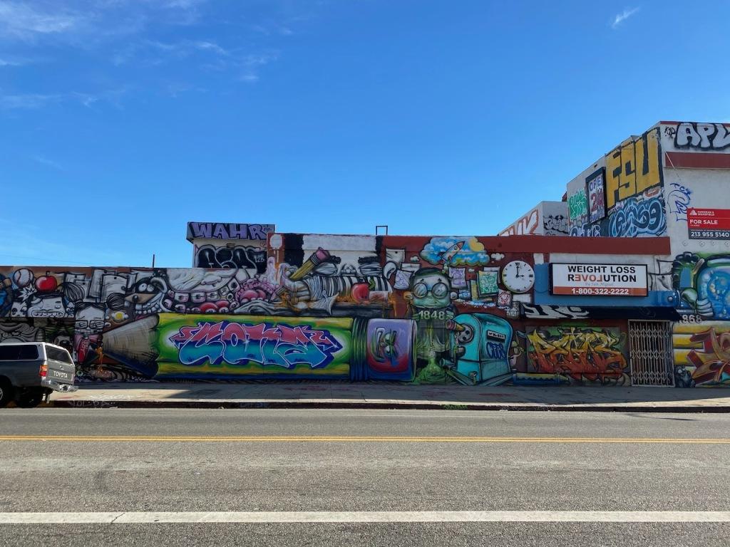 Street Photography: Weight Loss Revolution Graffiti