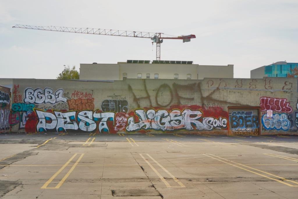 Street Photography: Graffiti and Crane