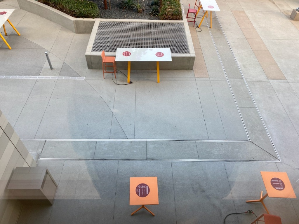 Photography: Social Distancing Series: Safety Signs - Aerial View