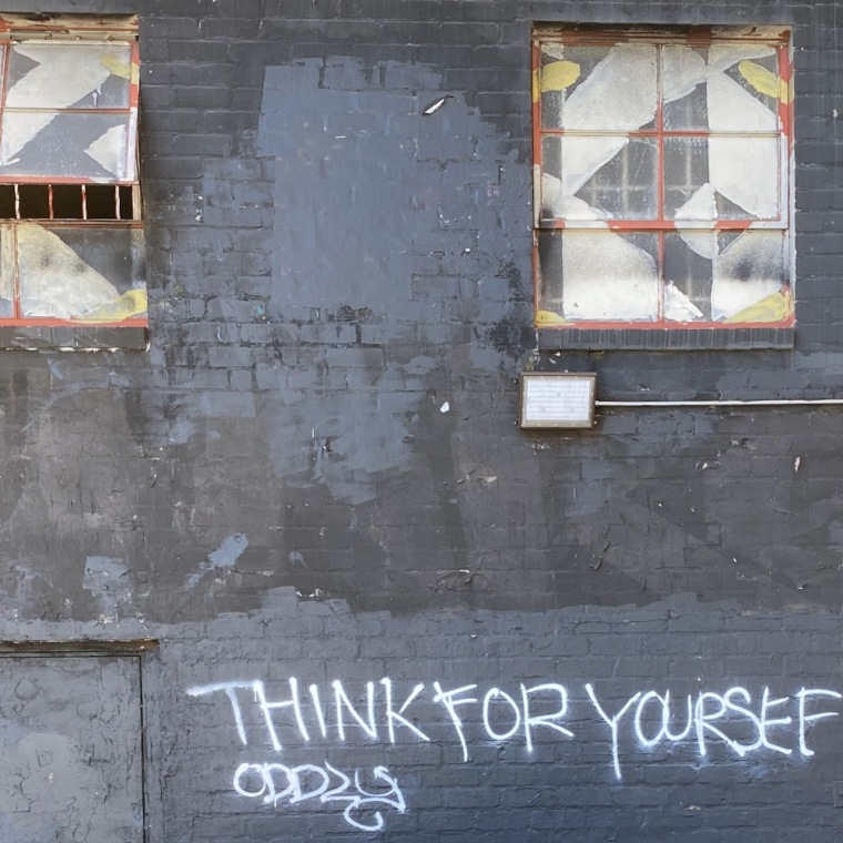 Street Photography: Graffiti - Think for Yoursef