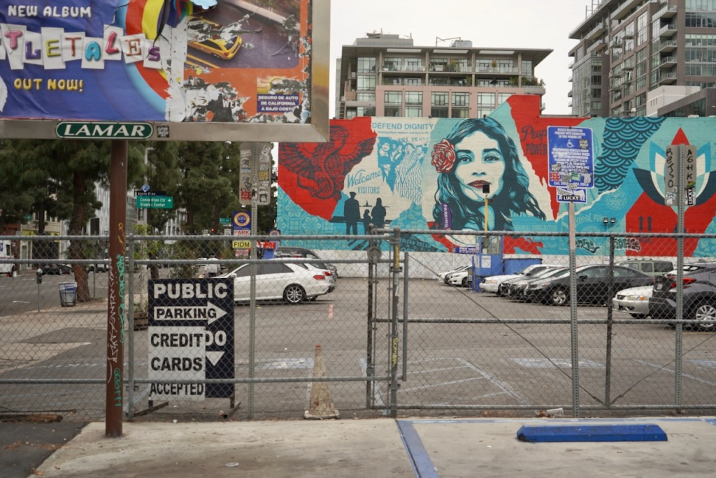 Street Photography: Mural and Part of Billboard
