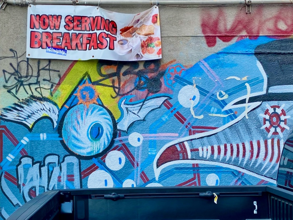 Street Photography: Now Serving Breakfast and Graffiti