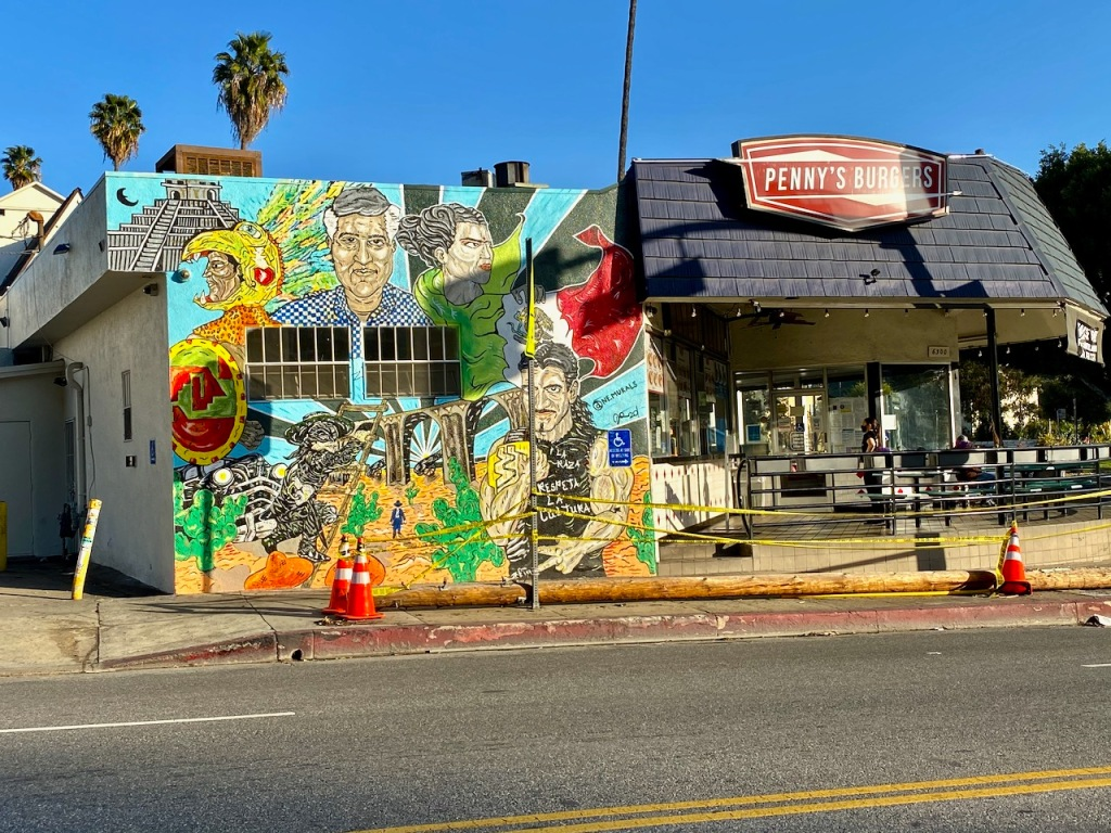 Street Photography: Burgers and Mural