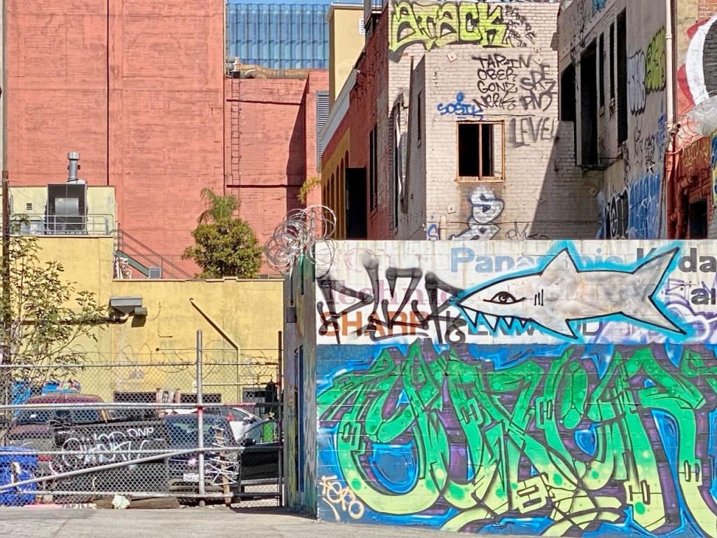 Street Photography: City Shark and Graffiti