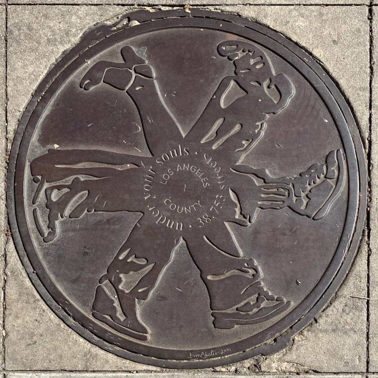 Street Photography: Under Your Souls - LA Manhole Cover