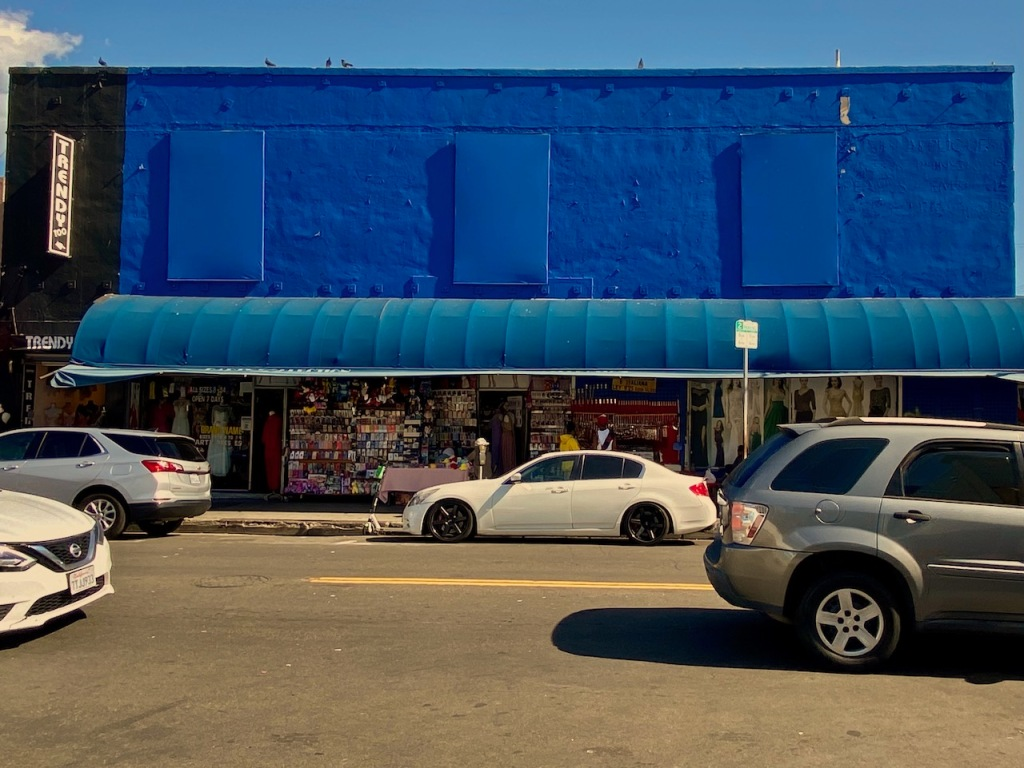 Street Photography: Trendy Blue Building